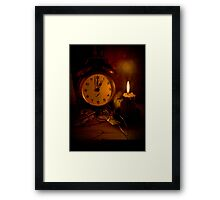 One O'Clock Framed Print