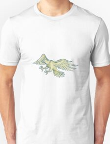 Bald Eagle Swooping Etching T-Shirt