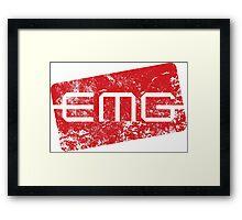 EMG Pickups distressed logo Framed Print