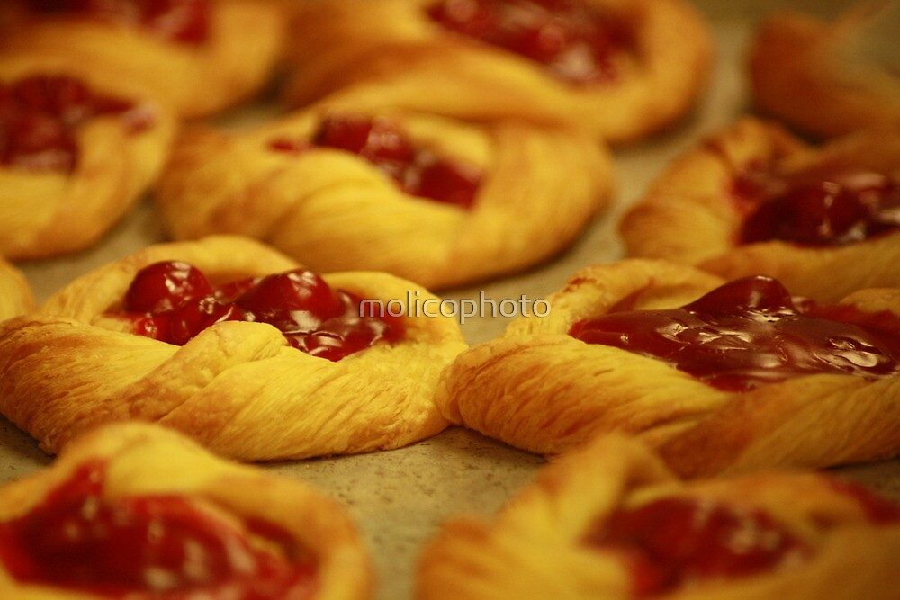 Fresh Baked Cherry Danish by molicophoto