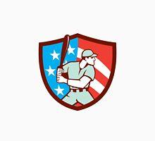American Baseball Batter Hitter Shield Retro Unisex T-Shirt