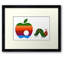 Very Hungry for Apple Framed Print