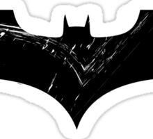 Batman Grunge Logo on white Sticker