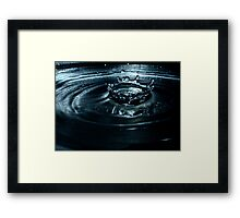 Drop Impact on Water Framed Print