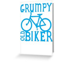 Grumpy old Biker with cycle riding bike bicycle Greeting Card