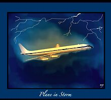 Plane In Storm by mcyoung