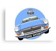 MGB chrome bumper light blue Canvas Print