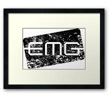 EMG Pickups distressed logo Black Framed Print