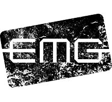EMG Pickups distressed logo Black Photographic Print
