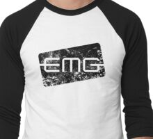 EMG Pickups distressed logo Black Men's Baseball ¾ T-Shirt