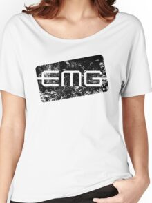 EMG Pickups distressed logo Black Women's Relaxed Fit T-Shirt