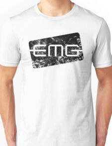 EMG Pickups distressed logo Black Unisex T-Shirt