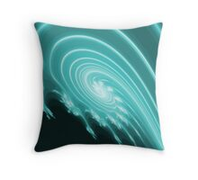 Storm Flower Fractal Throw Pillow