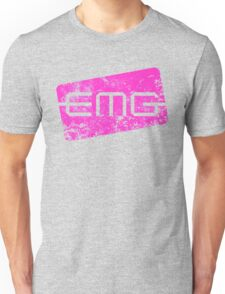 EMG Pickups distressed logo Pink Unisex T-Shirt