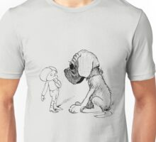 Who let the dog out, black Unisex T-Shirt