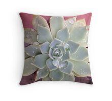 Droplet Cactus Throw Pillow