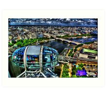 London Eye view - HDR Art Print