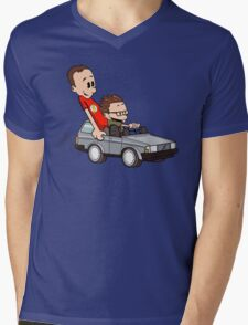 Leonard and Sheldon Mens V-Neck T-Shirt