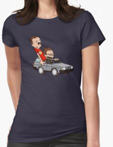 Leonard and Sheldon Womens Fitted T-Shirt