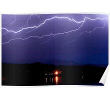 Cloud to Cloud Lightning Storm Poster