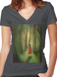 Woods Women's Fitted V-Neck T-Shirt