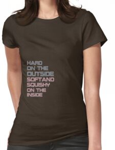 hard on the outside Womens Fitted T-Shirt