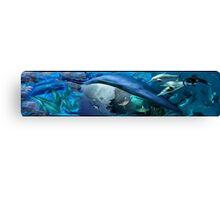 Under water Marine Mammals Canvas Print