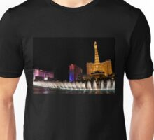 Vibrant Las Vegas - Bellagio's Fountains, Paris, Bally's and Flamingo Unisex T-Shirt