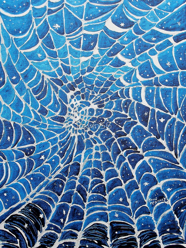 Spider web fabric of space time by kevin mcgeeney for Red space fabric