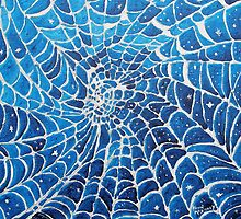 SPIDER WEB FABRIC OF SPACE/TIME by Kevin McGeeney