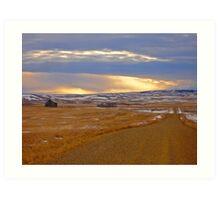 Warm Front on the Prairies Art Print