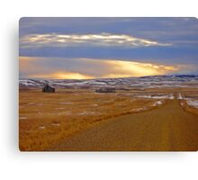 Warm Front on the Prairies Canvas Print