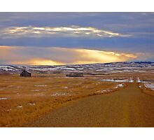 Warm Front on the Prairies Photographic Print