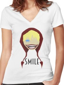 """Corazon Full Toothed """"Smile"""" Women's Fitted V-Neck T-Shirt"""