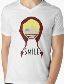 "Corazon Full Toothed ""Smile"" Mens V-Neck T-Shirt"