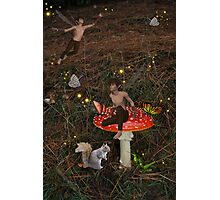 Atop A Spotted Faeriestool Photographic Print