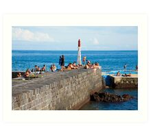 Sunbathing in Azores Art Print