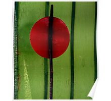 Red on Green - Perris CA Poster
