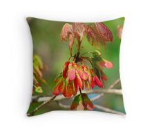 New Leaves Budding Throw Pillow
