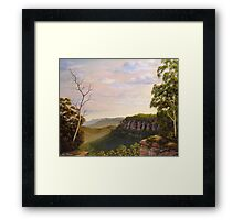 Escarpments Edge Framed Print