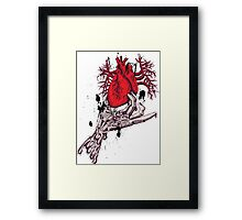 heart in my hand Framed Print