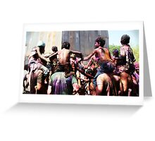 Holi in Hampi Greeting Card