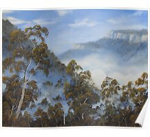 Fog Below The Escarpments Poster