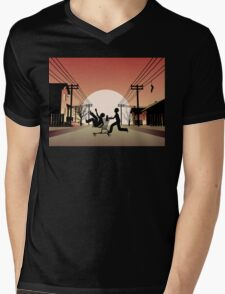 Sunset Suburban Mens V-Neck T-Shirt