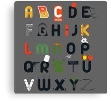 Pop culture alphabet Canvas Print
