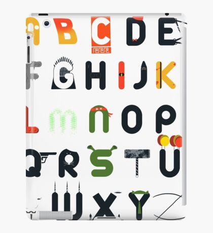Pop culture alphabet iPad Case/Skin