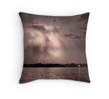 Lightning Man Throw Pillow