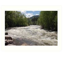 Mountain River - Avon, Colorado Art Print