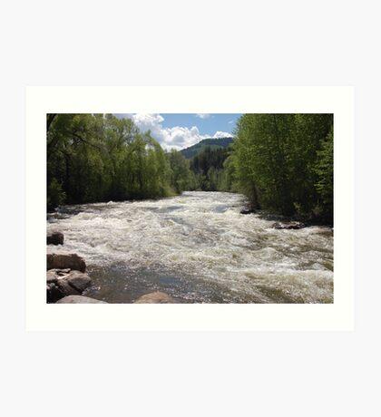 Mountain River - Avon, Colorado Art Print