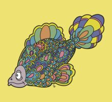 Psychedelic Fish Baby Tee